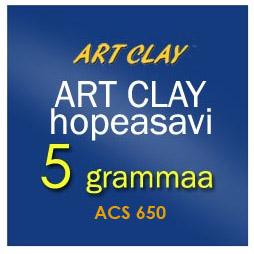 *Siivousmyynti -vanhaa varastoa -huom: saattaa olla kuivunutta* Art Clay 650 -hopeasavi normaali, 5g